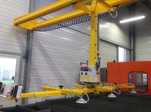 Palonnier à 6 ventouses horizontal sous colonne rigide, pour charges jusqu'à 100kg