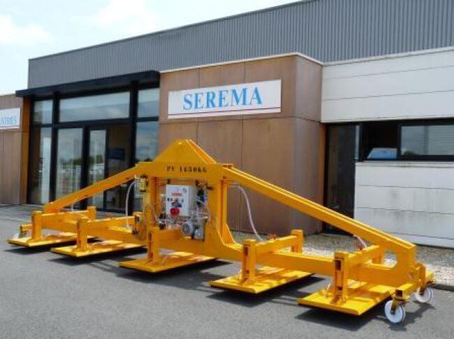 Palonnier horizontal à 5 ventouses rectangulaire, pour le transport de charges jusqu'à 8 000 kg